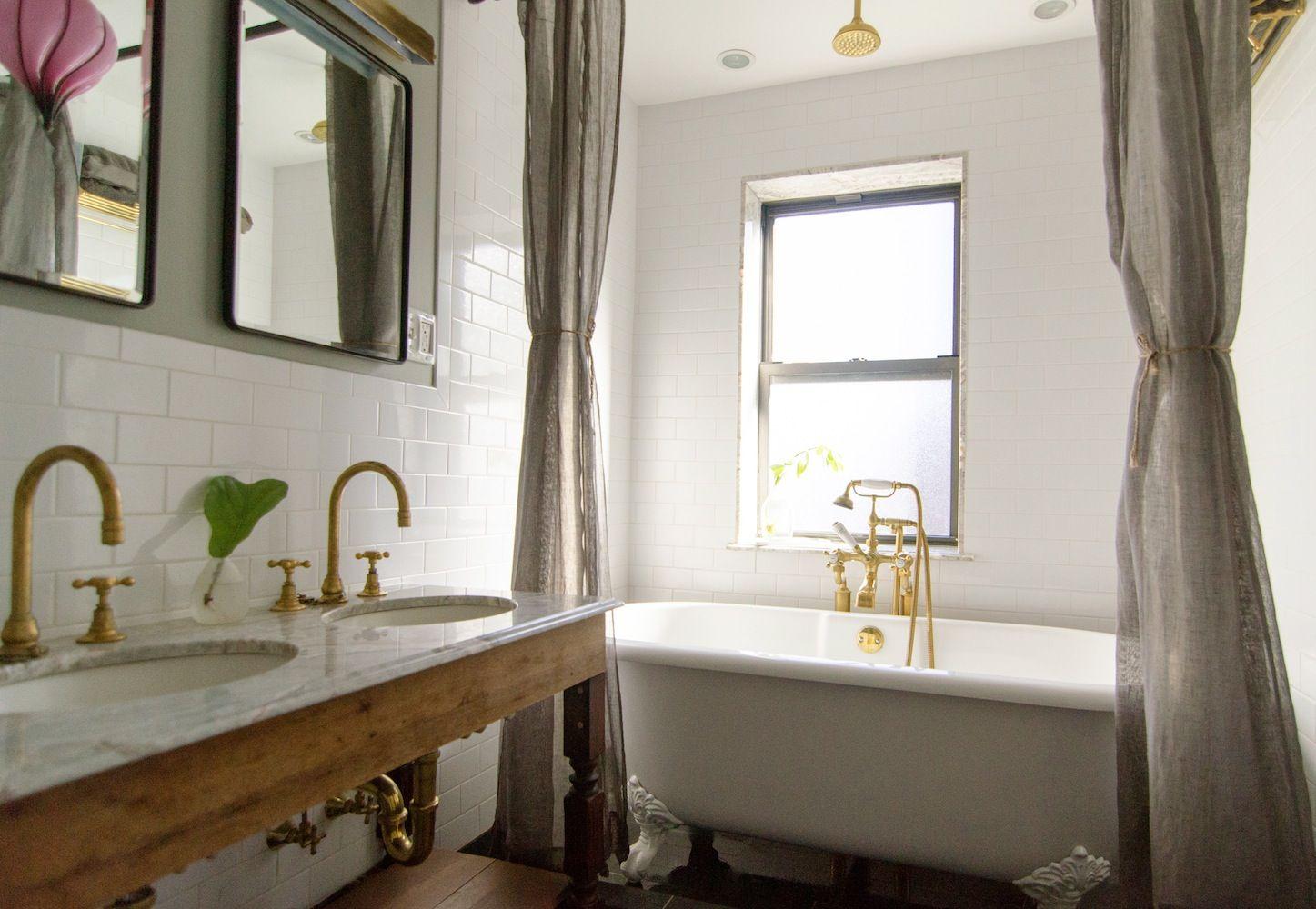 brownstone bathroom. charming double sink | W.C. | Pinterest | Sinks ...