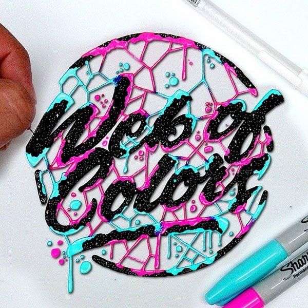 Le lettering très coloré de El Juantastico   Art de l'écriture manuscrite, Lettrage graffiti et ...