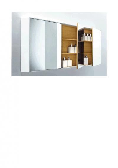 Falper Shape Wood | Van Marcke outlet € 600  3 spiegelkasten  160cm