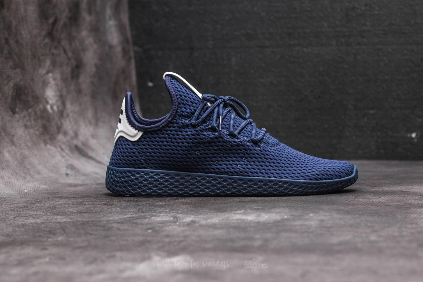 d6744d57e adidas Pharrell Williams Tennis HU Dark Blue  Dark Blue  Ftw White at a  great price 104 € buy at Footshop