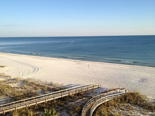 Summer House 603A - view from the balcony.  Gulf of Mexico, Orange Beach AL