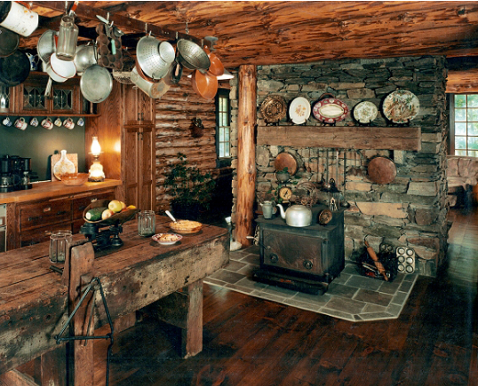 Real Rustic Cabin Kitchen 538 435 Rustic Cabin Kitchens Log