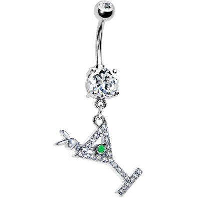 Martini For Me Playboy Belly Ring
