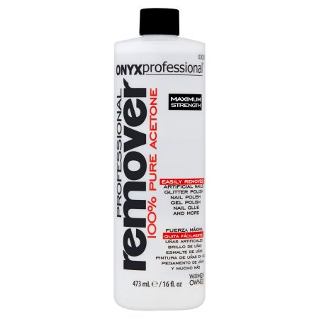 Onyx Professional Pure Acetone 100 Maximum Strength Nail Polish Remover 16oz Bottle Walmart Com Nail Polish Remover Nail Remover Acetone