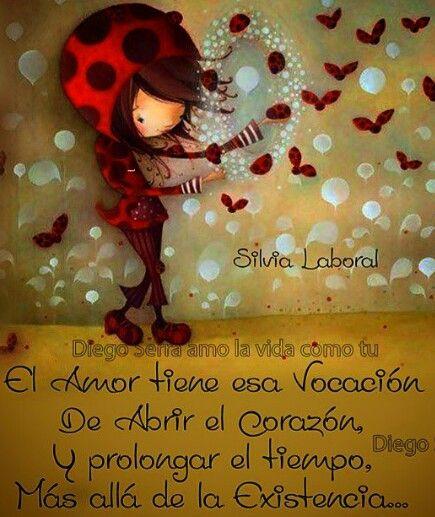 Silvia Laboral y Diego Serra. ..Él amor tiene esa vocación