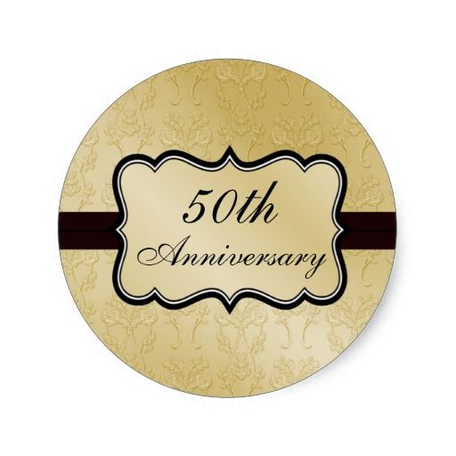 Lovely 50th Anniversary Stickers    Party Favor Labels U003du003e Http://www.