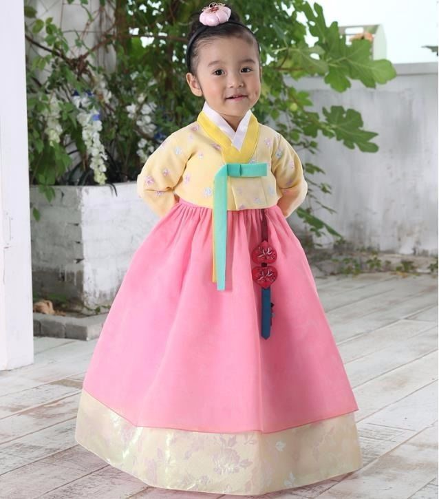 Hanbok Girl 7026 Korean Traditional Dress Korea Baby 1st Birthday Party Kids