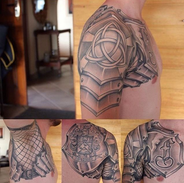 Armor Tattoo Family Oriented Armor Done By Brent Goudie In South