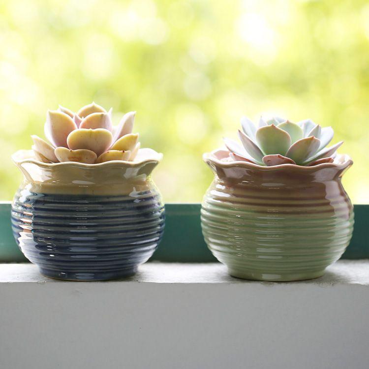 Aliexpress Com Buy Desktop Mini Ceramic Flower Pots Garden Supplies Pastoral Glazed Flowerpots Wholesale Pr Flower Pot Garden Ceramic Flower Pots Flower Pots