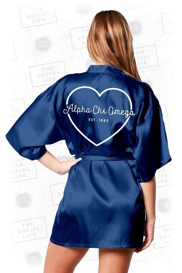 Alpha Chi Omega Silky Robe  2ccf1634f
