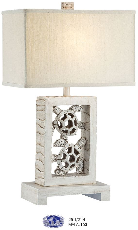 Carved Rectangle Turtle Table Lamp Master Bedroom Turtle Table