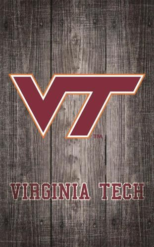 Virginia Tech Vt Hokies Wall Art Distressed Gray Wood Plaque Grey Wood Wood Plaques Wall Art