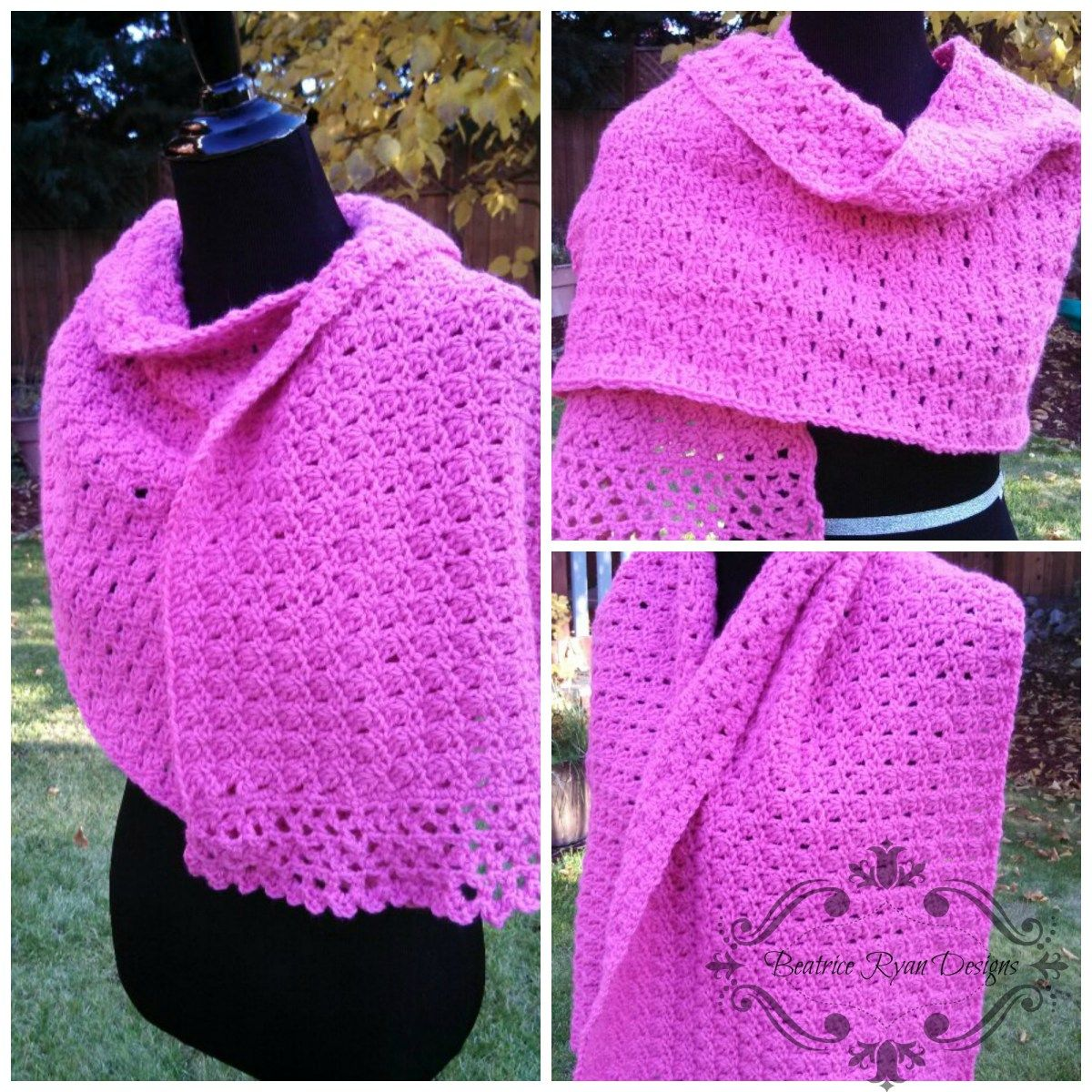 Amazing Grace Prayer Shawl- Free Crochet Pattern | Häkeln