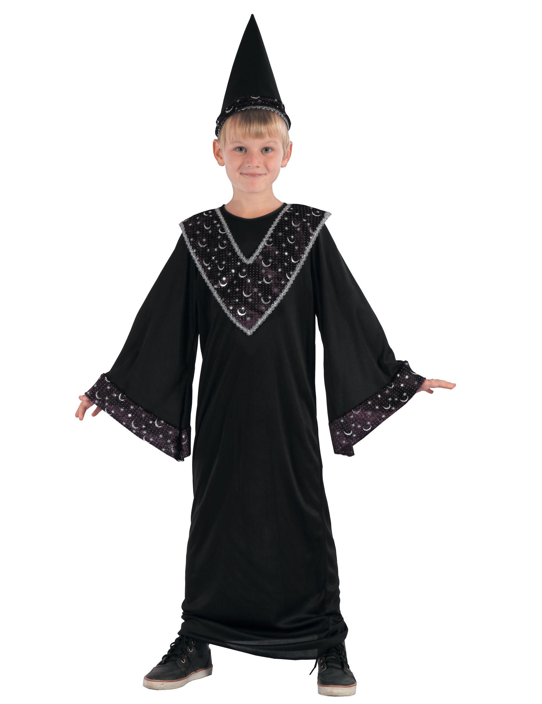 Costume da apprendista stregone per bambino  Questo travestimento da mago nero  per bambino comprende un 17a40273d1a7