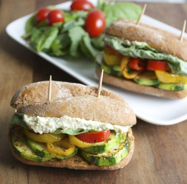 Italian Veggie Sliders with Whipped Feta+Pesto Spread, the BEST vegetarian sliders ever!!