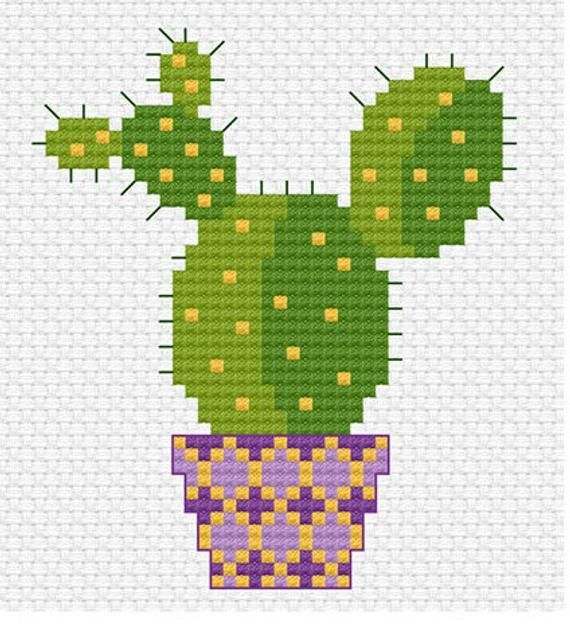 Photo of Modern Cross Stitch – cute little cactus cross stitch pattern from Tiny Modernist