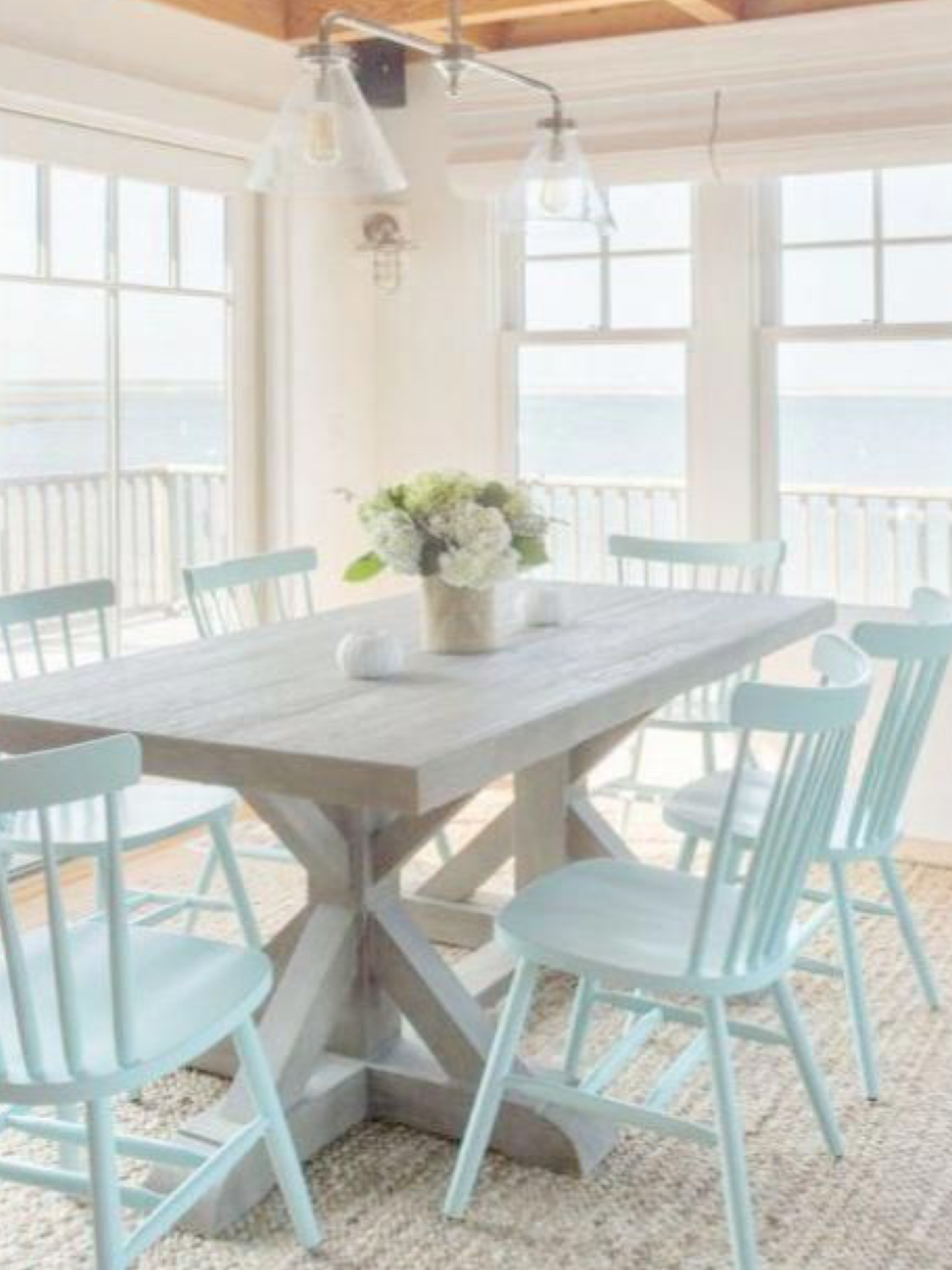 Pin by Jan on beach house Cottage dining rooms, Coastal
