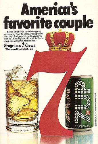 Seven My Favorite Cocktail You Have To Use Segram S 7 Crown And 7up Or Its Not The Same Cocktails Classic Cocktails Favorite Drinks
