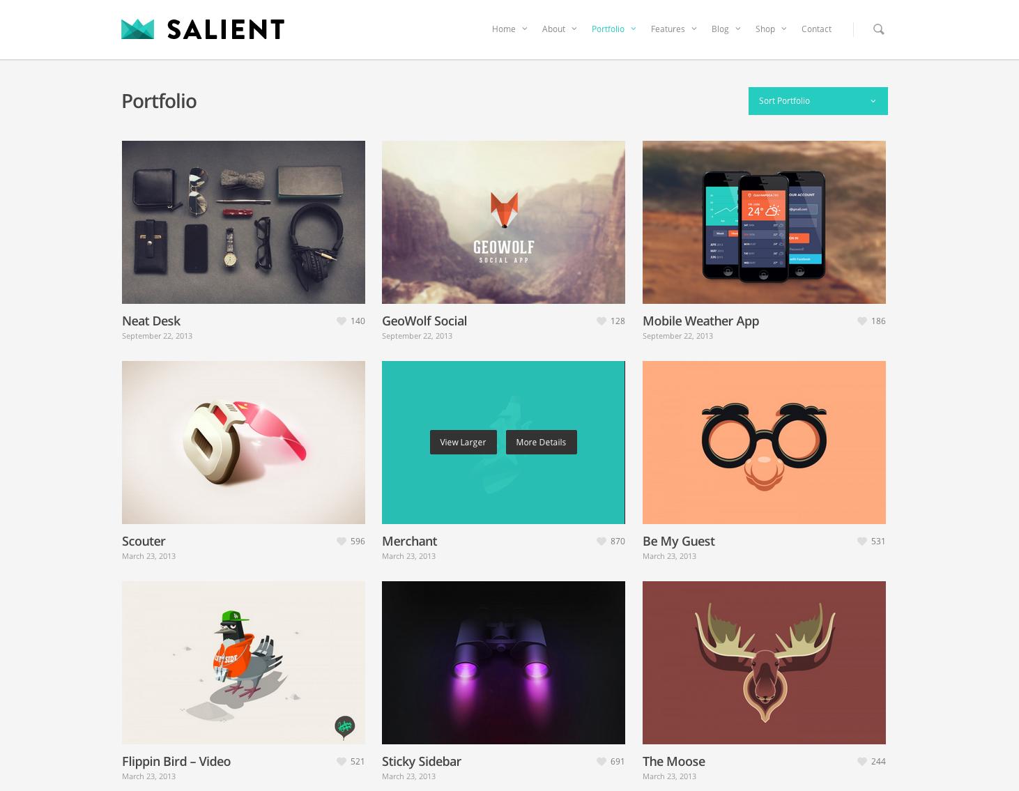 Modern colors web design - Portfolio Layout Web Design Modern Simple Clean