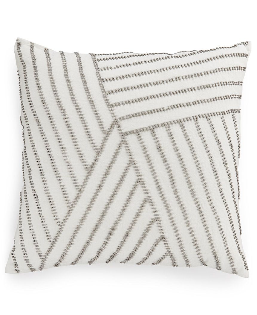 Macy's Decorative Pillows Prepossessing Hotel Collection Linen Fog 18 Square Decorative Pillow Only At Inspiration
