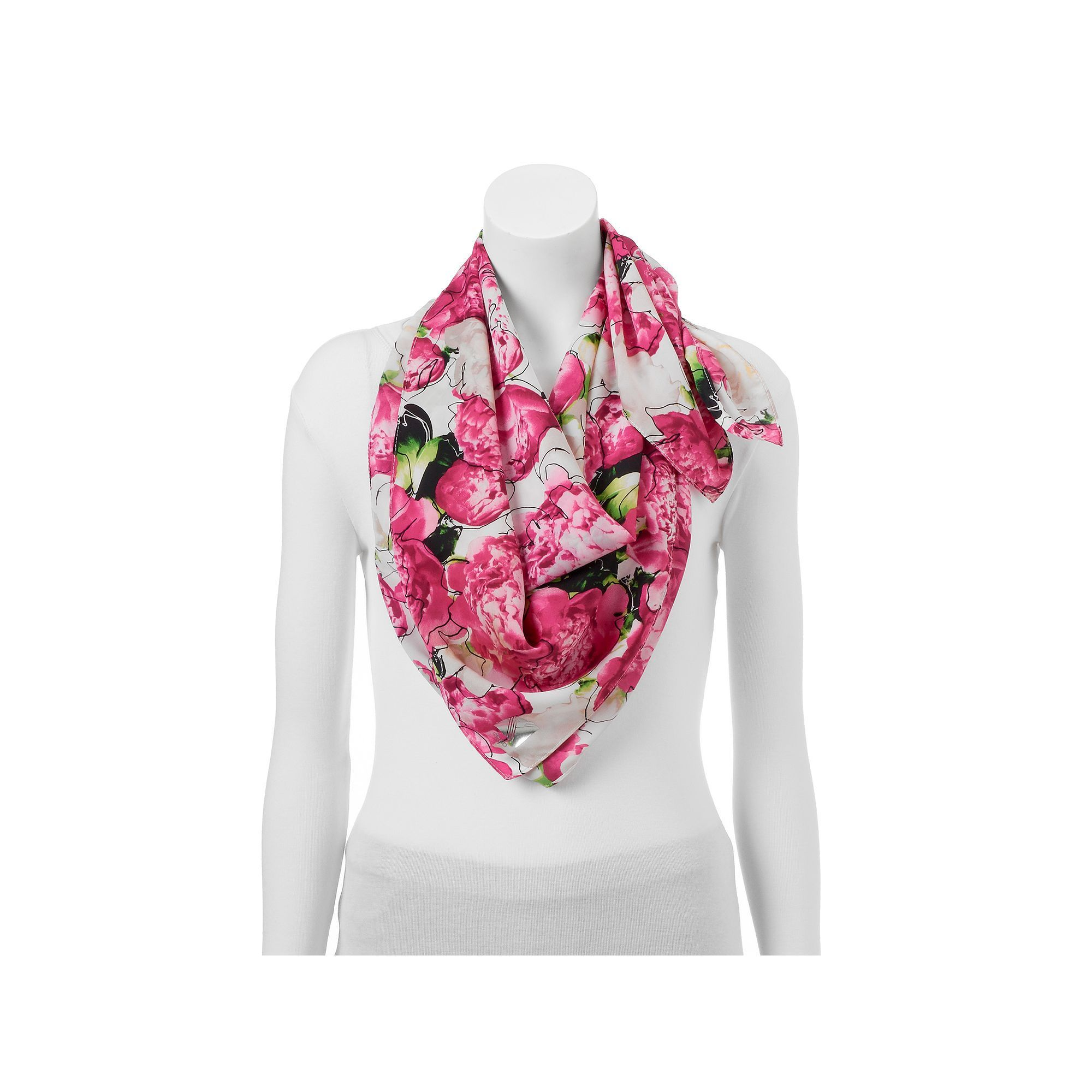 Silk Square Scarf - Reed 3 by VIDA VIDA