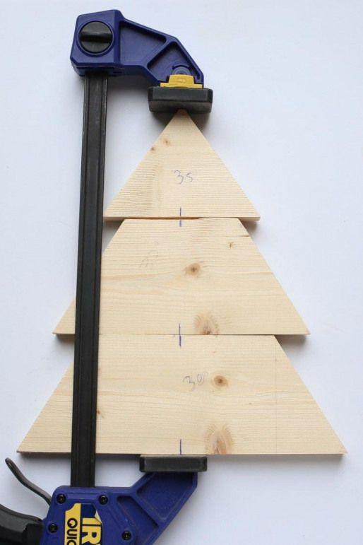 DIY Wood Christmas Tree Mason Jar Sconce #diywoodwork | Wood christmas tree, Wooden christmas ...