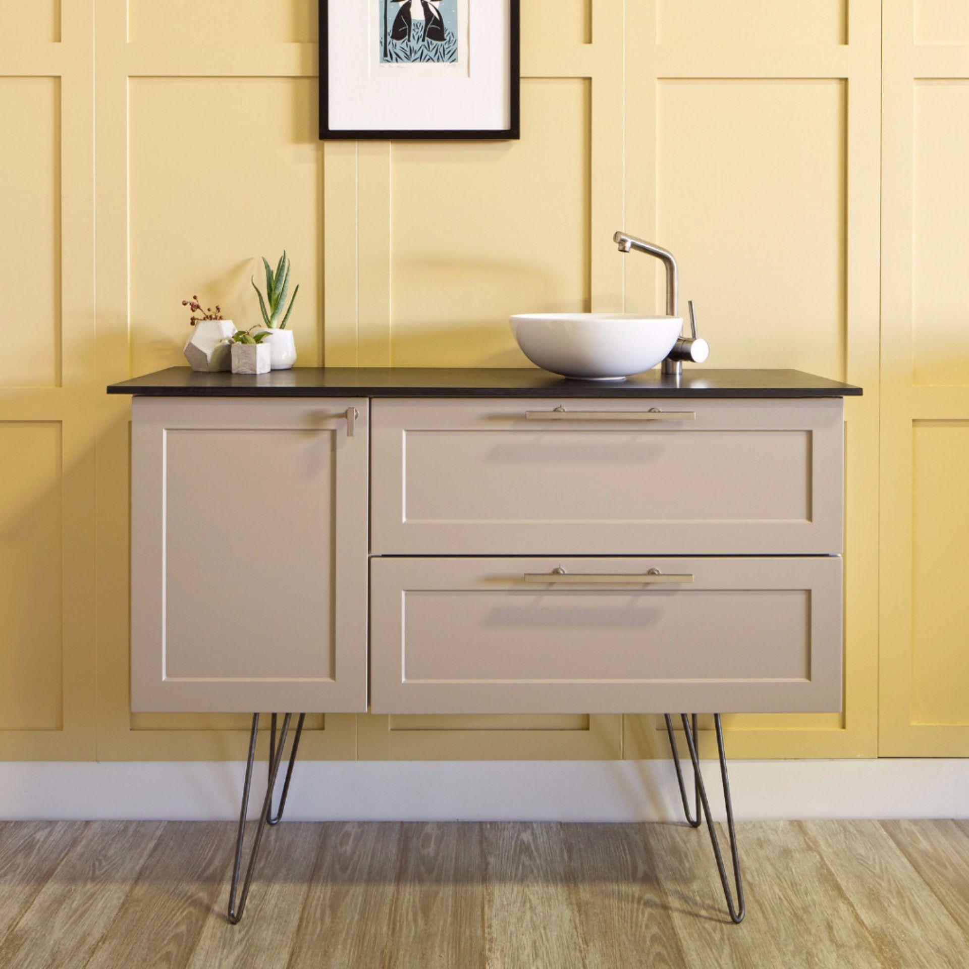 Semihandmade nicer Ikeastyle furniture. Cool vanity