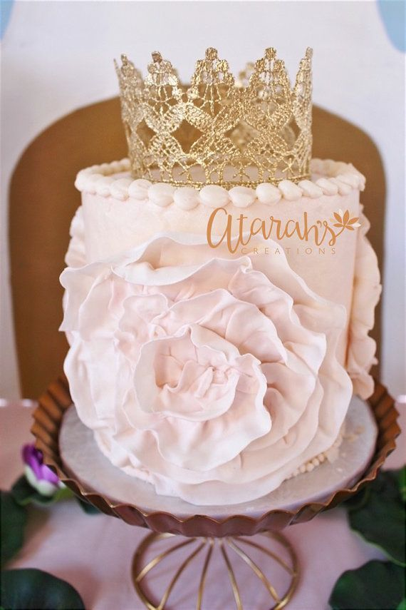 Gold Crown Cake Topper By ATARAHSCREATIONS