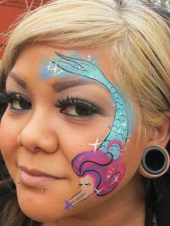 mermaid …  mermaid face paint face painting designs