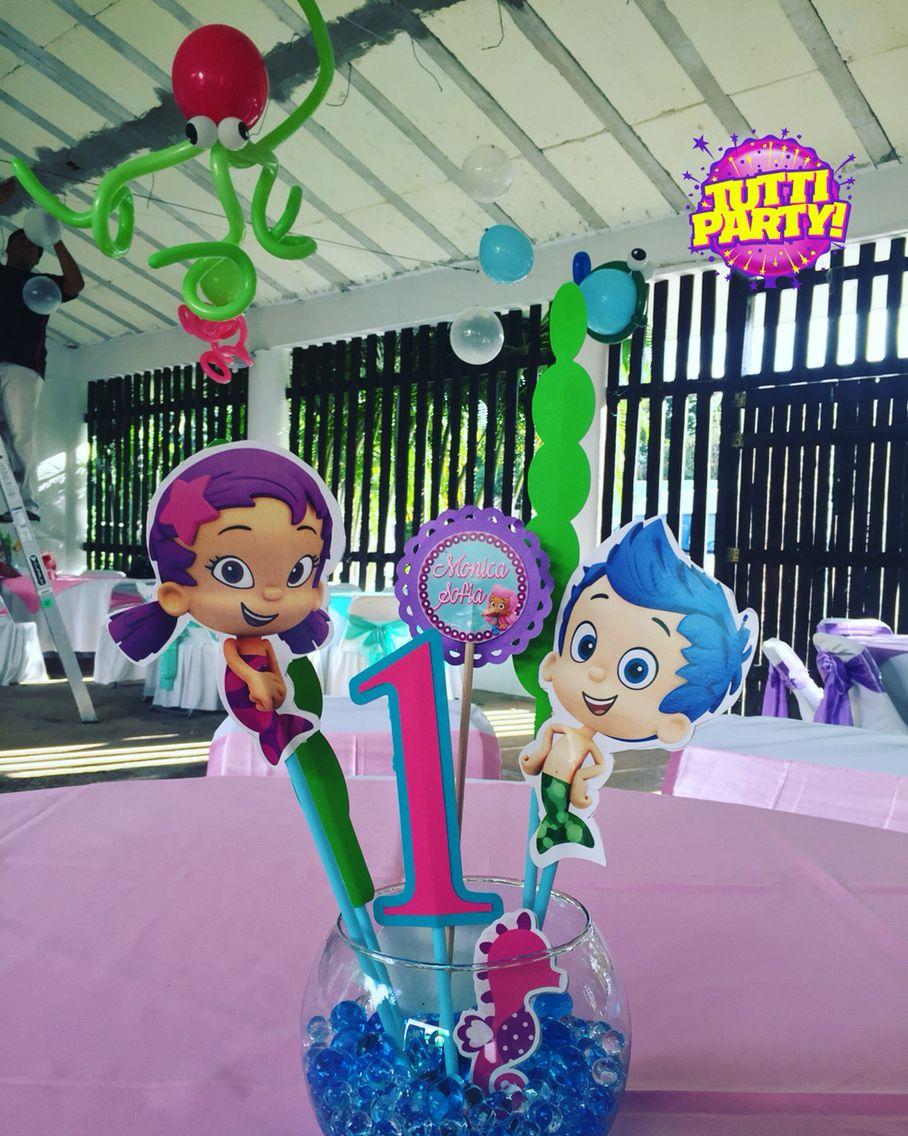 Bubble Guppies Party Ideas Centros De Mesa Guppie Centerpieces