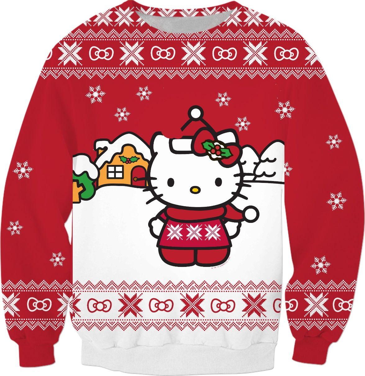 Ugly Christmas Sweater Cartoon.Pin On Hello Kitty