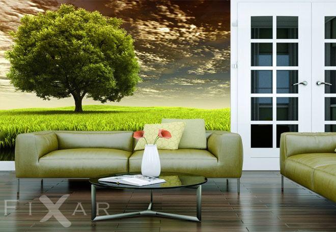Fototapeten Grüner Baum Fototapete fürs Wohnzimmer Pinterest Fur