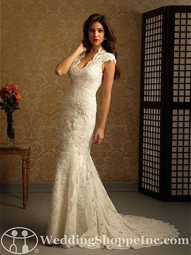Allure 2455 Available At The Wedding Shoppe In St Paul Mn Wedding Dress Train Mermaid Trumpet Wedding Dresses Lace Weddings