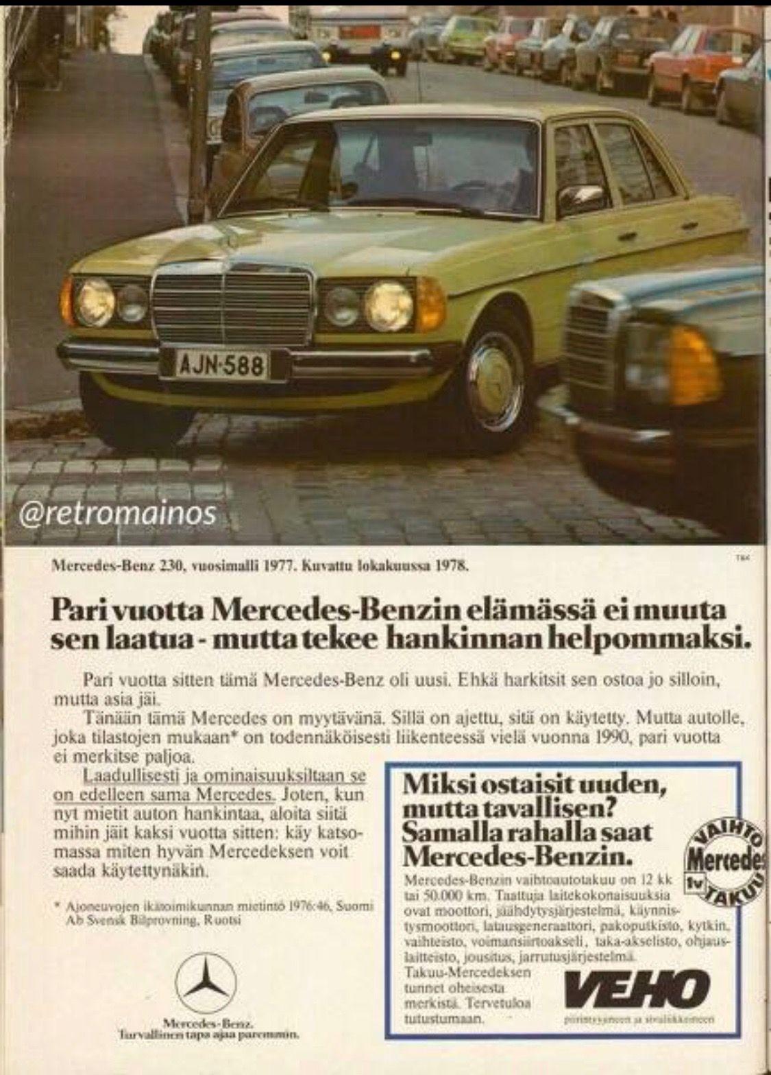 1978 Mercedes-Benz 240/300 (W123 series) in Finnish