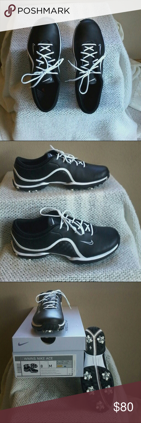 Nike Golf Shoes Water resistant synthetic leather.  Brand new.  Never worn. Nike Shoes Athletic Shoes