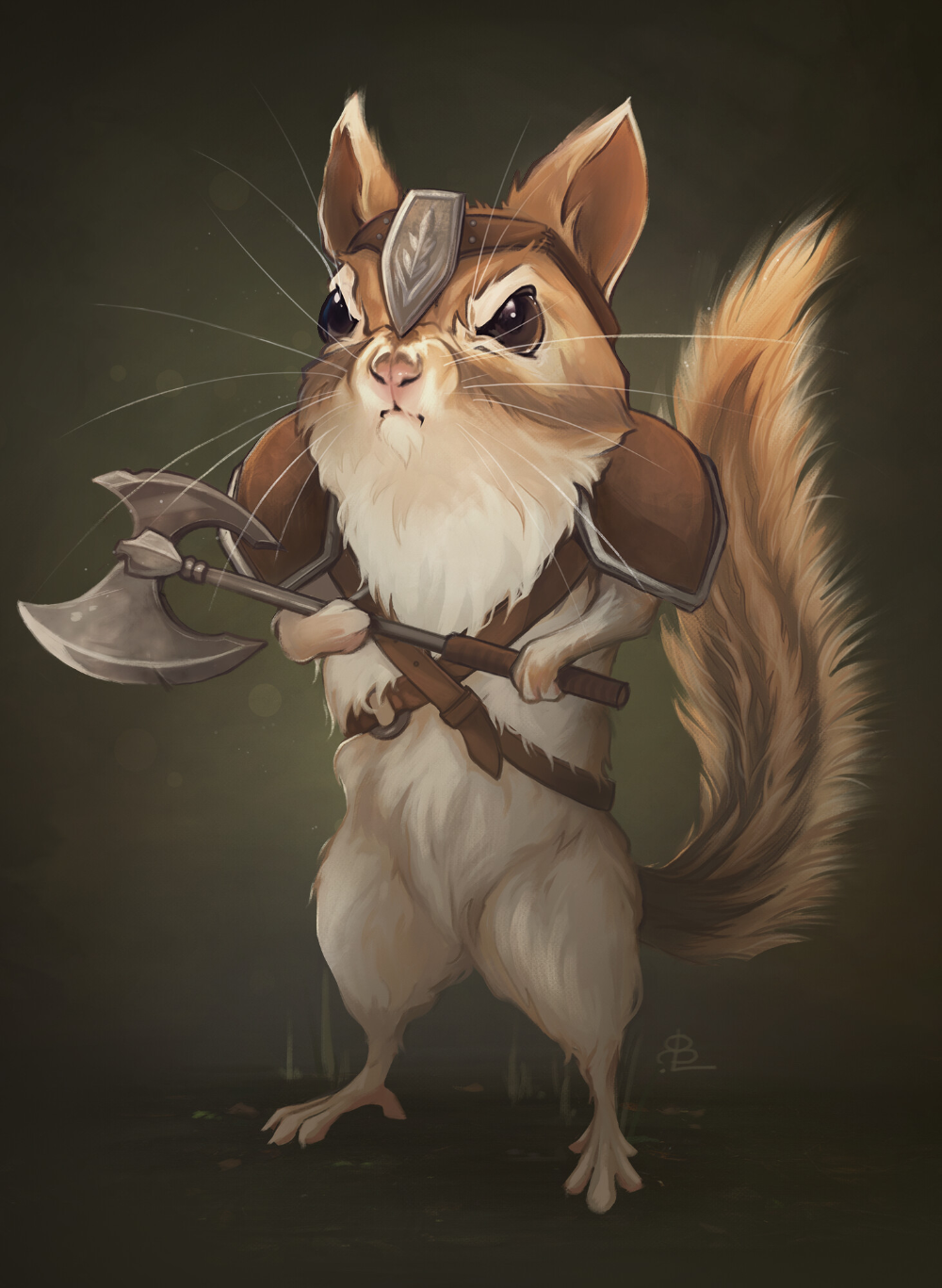 ArtStation Chipmunk Barbarian, Rachel Bradley in 2020