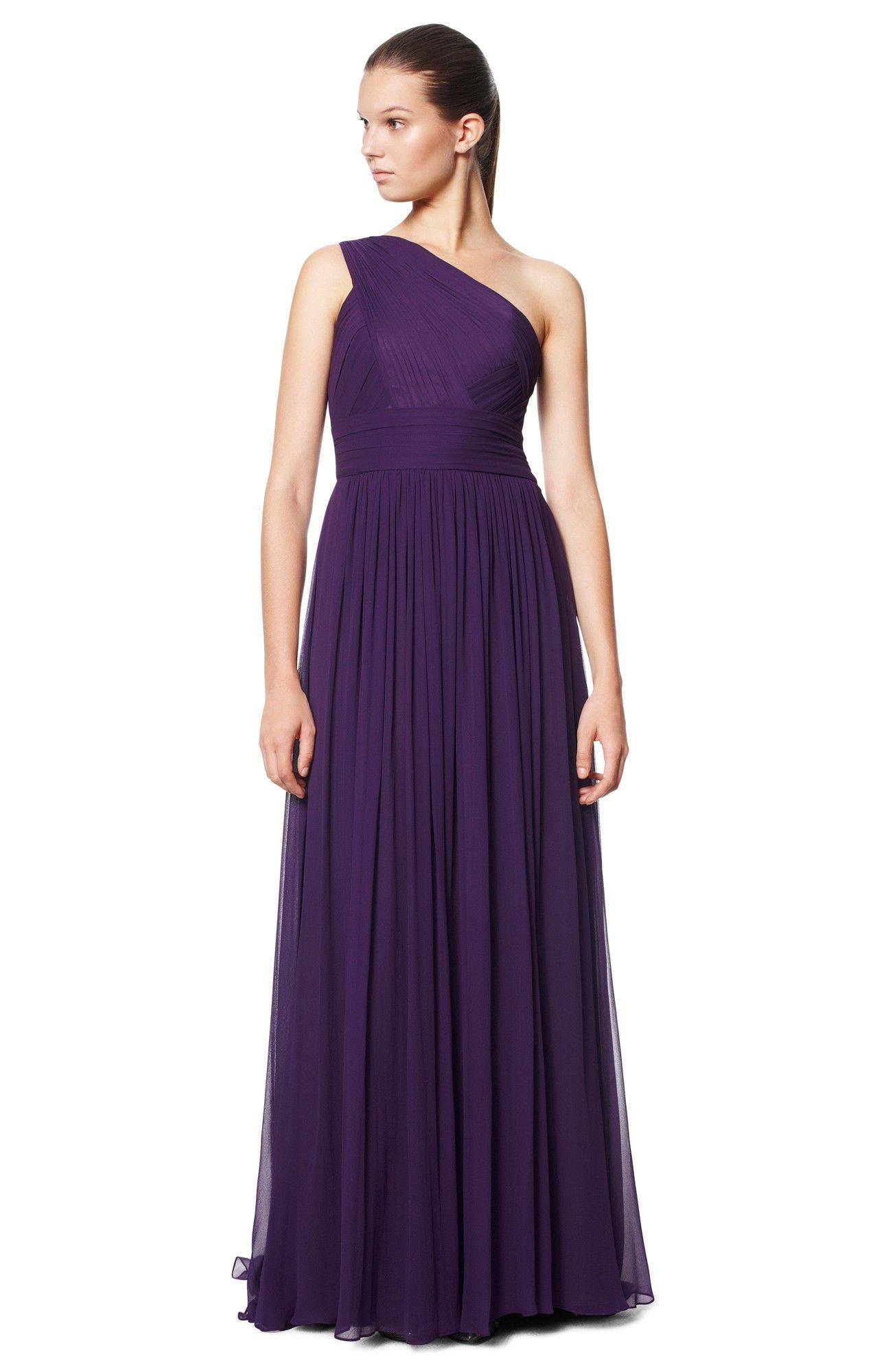 Vestido seda asimétrico - Vestidos | Adolfo Dominguez shop online ...