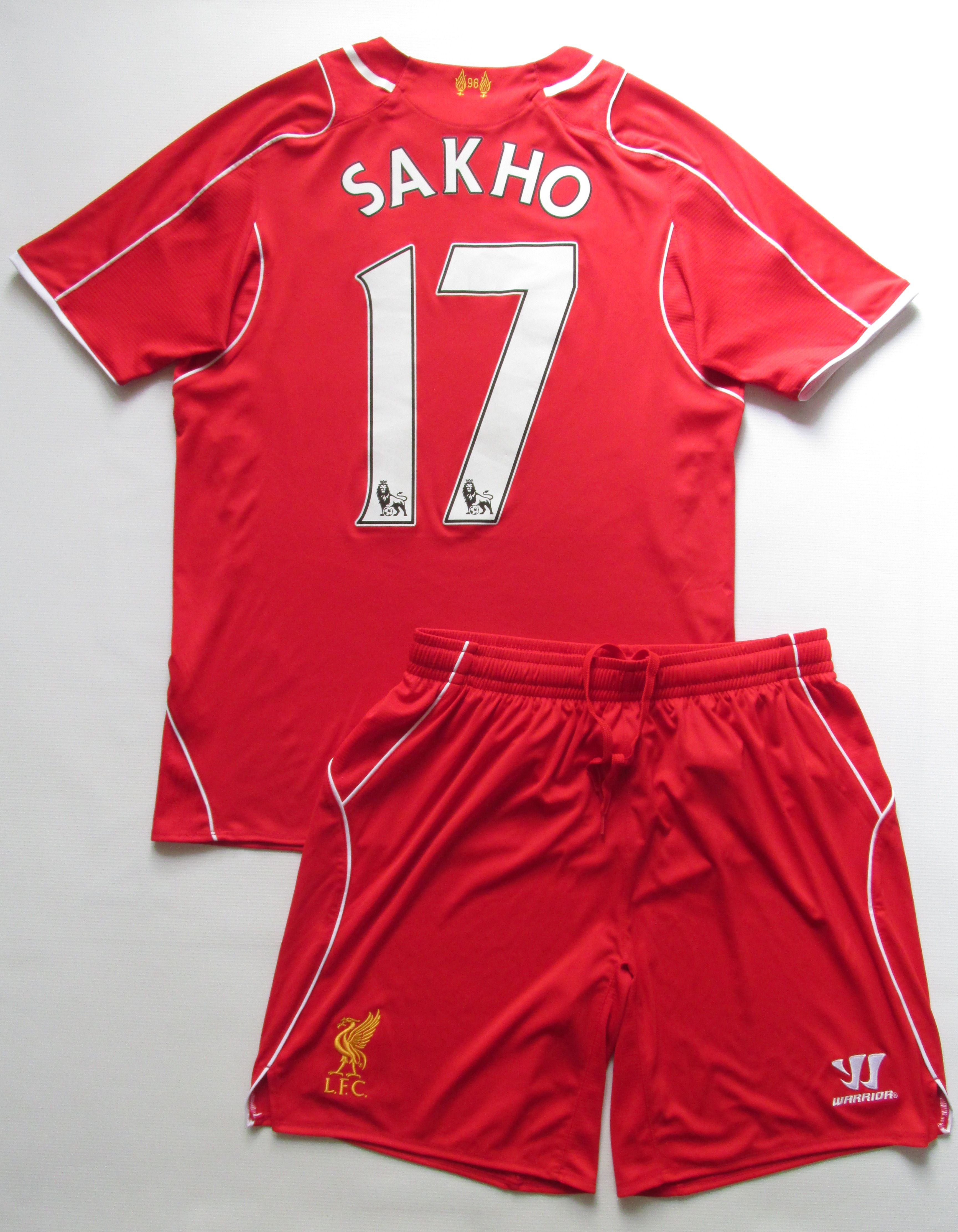 0eb20783d Liverpool 2014 2015 home football kit Mamadou Sakho  17 by Warrior LFC  LiverpoolFC jersey footballshirt reds England premierleague soccer   Liverpool  lfc ...