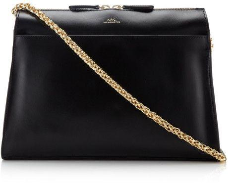 8b1309f26d9f Love this  A.P.C Black Leather Edith Shoulder Bag  Lyst ...