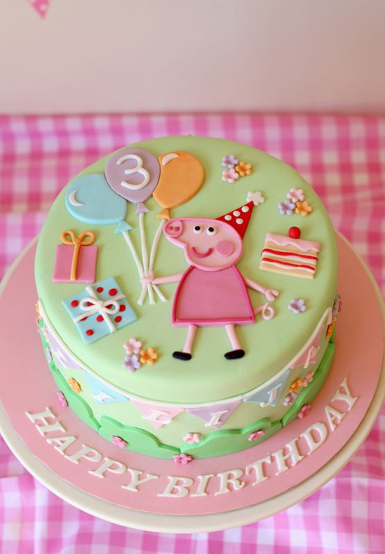 Pastel Peppa Pig Cake With Images Pig Birthday Cakes Peppa Pig Birthday Cake Peppa Pig Cake