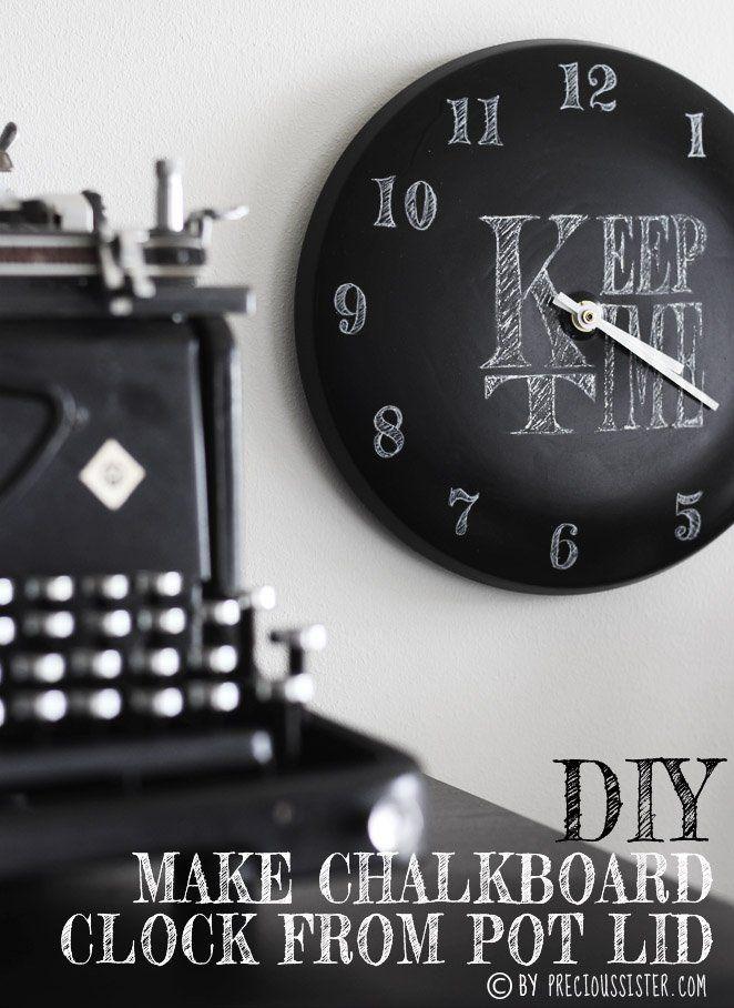 Create a DIY Chalk Clock from a