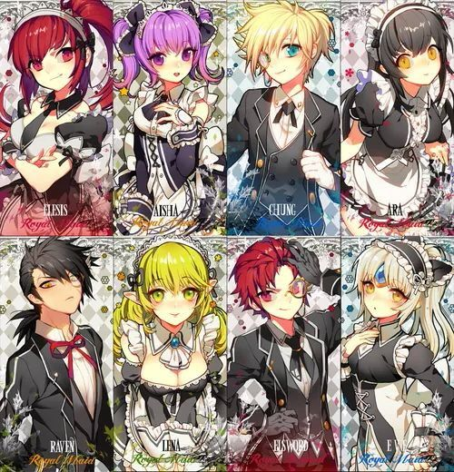 Anime Characters Jobs : From official elsword online maid and butler costume