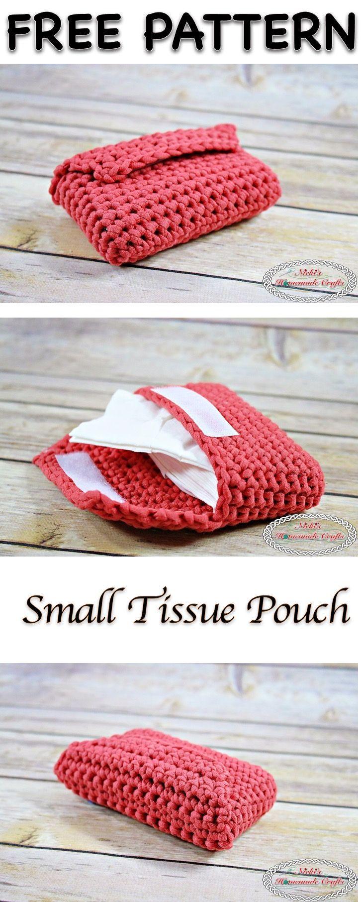 Small Tissue Pouch - Free Crochet Pattern | Garn, Häkeln ideen und ...