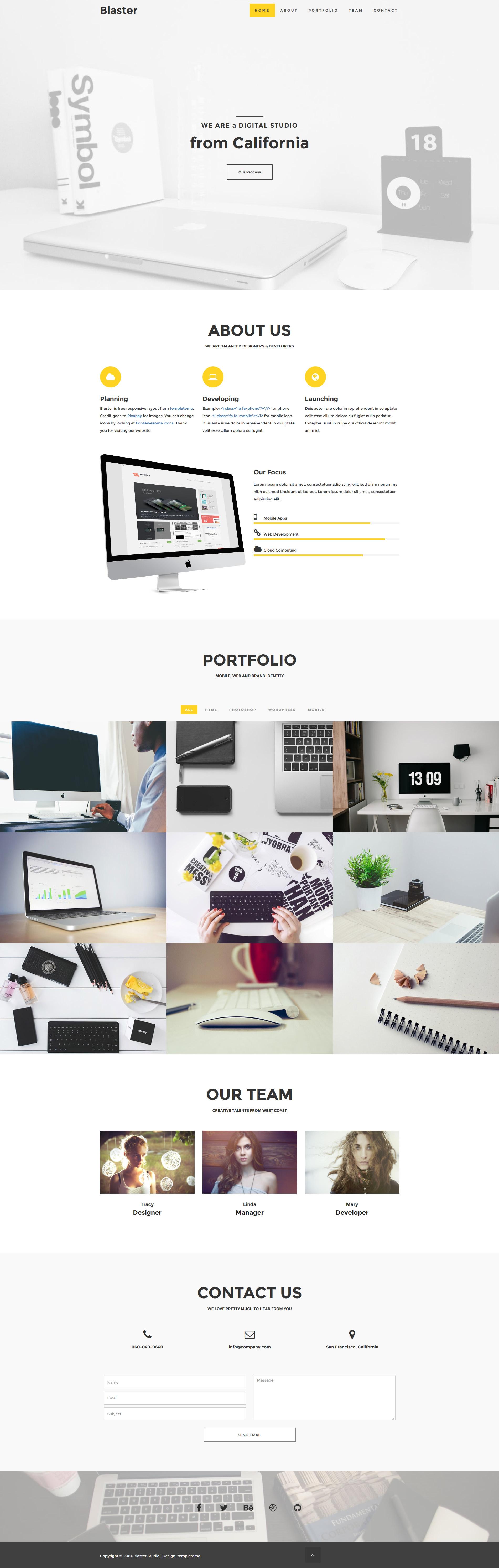 Blaster template | Free html templates | Pinterest | Template