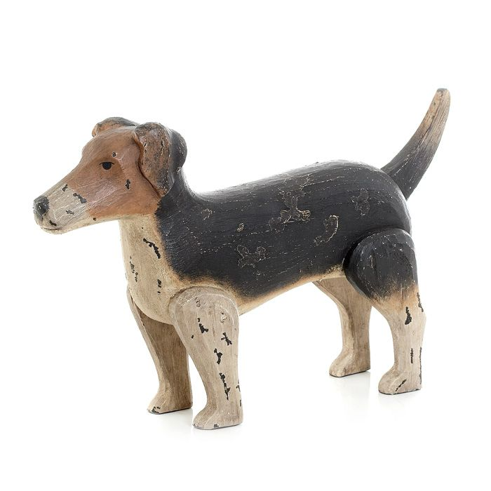 Jack Russell Dog will add chic style and charm to your decor. It has Antique painted finish. #dog #homedecor