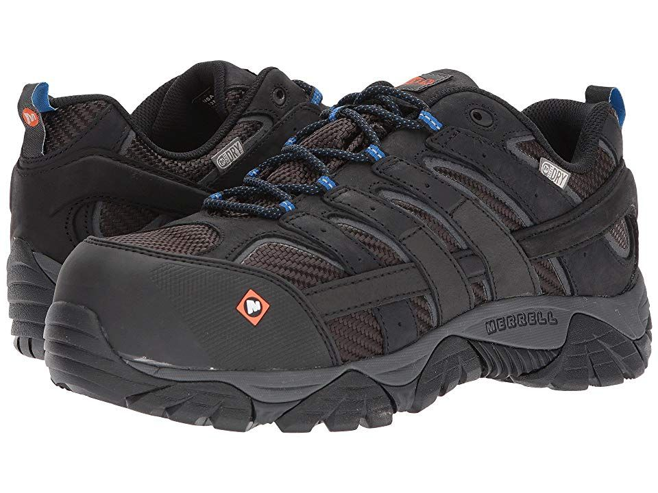 Deals on Merrell Work Moab 2 Vent Mid Waterproof CT (Black