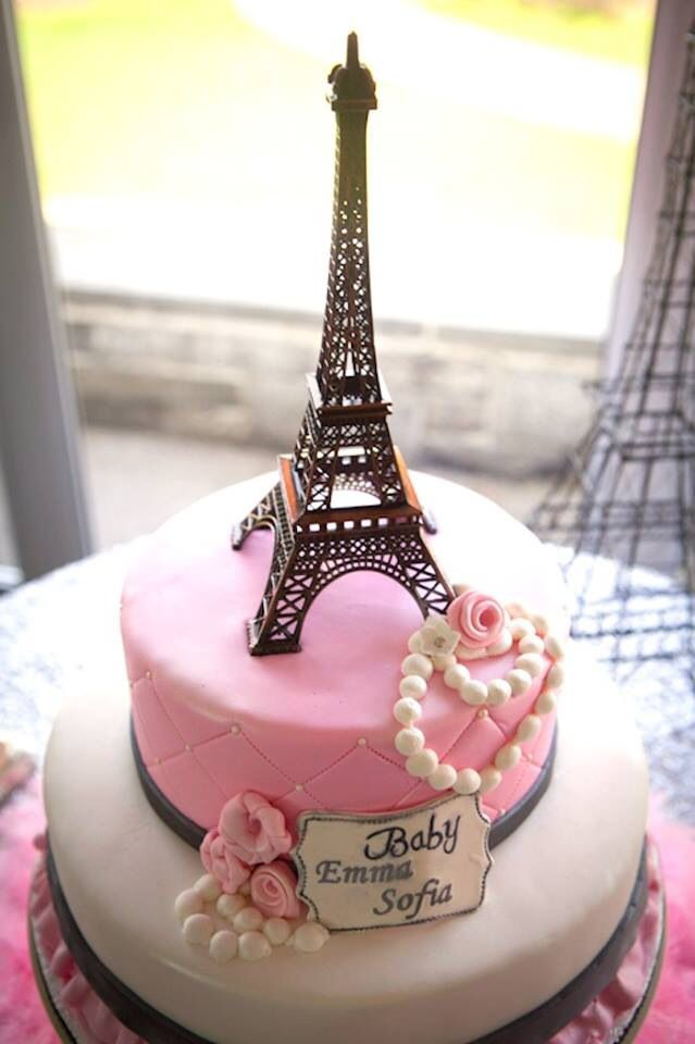 Admirable Eiffel Tower Cake A La Parisienne French Love With Images Birthday Cards Printable Benkemecafe Filternl