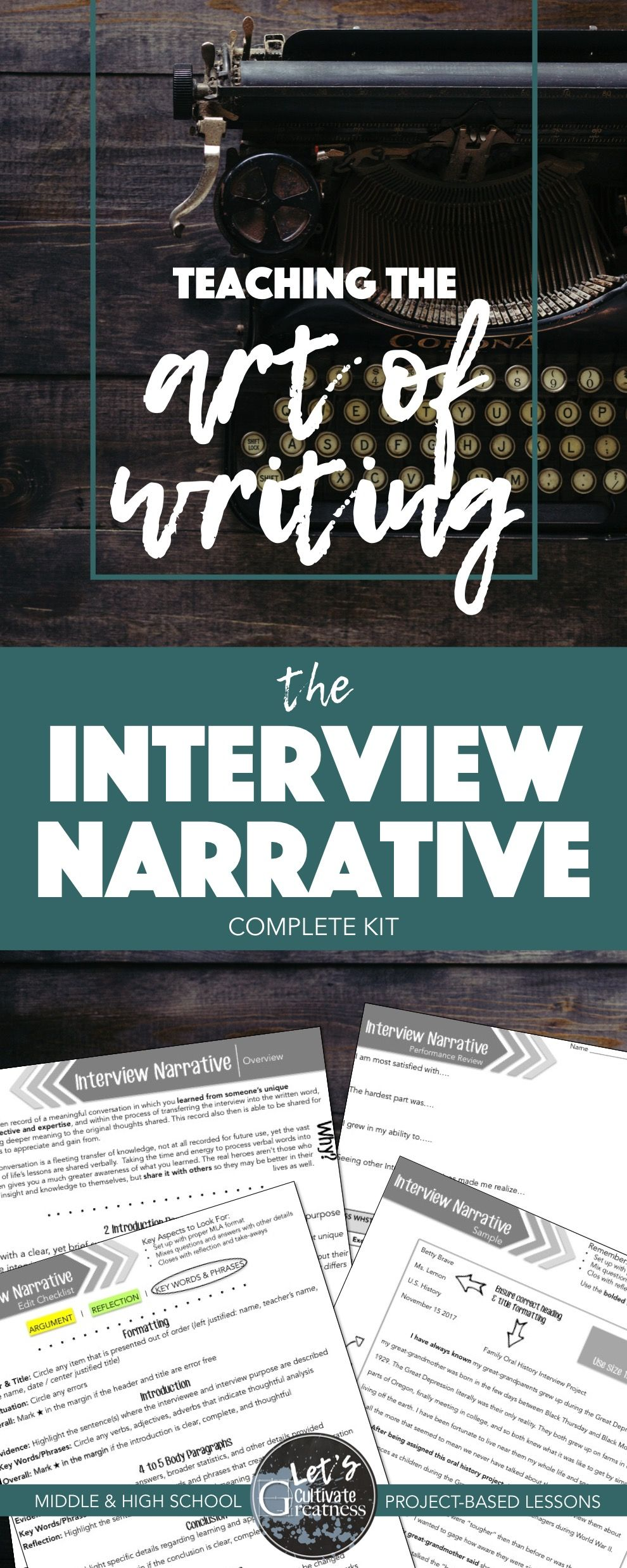 Persuasive Essay Example High School Everything You Need To Teach Writing An Interview Narrative Essay From  Brainstorming To Outlining To Peerediting Perfect For Your High School  English Or  Argumentative Essay Thesis also Research Essay Thesis Writing Pbl Project Interview Oral History Essay Narrative  Thesis Statement Descriptive Essay