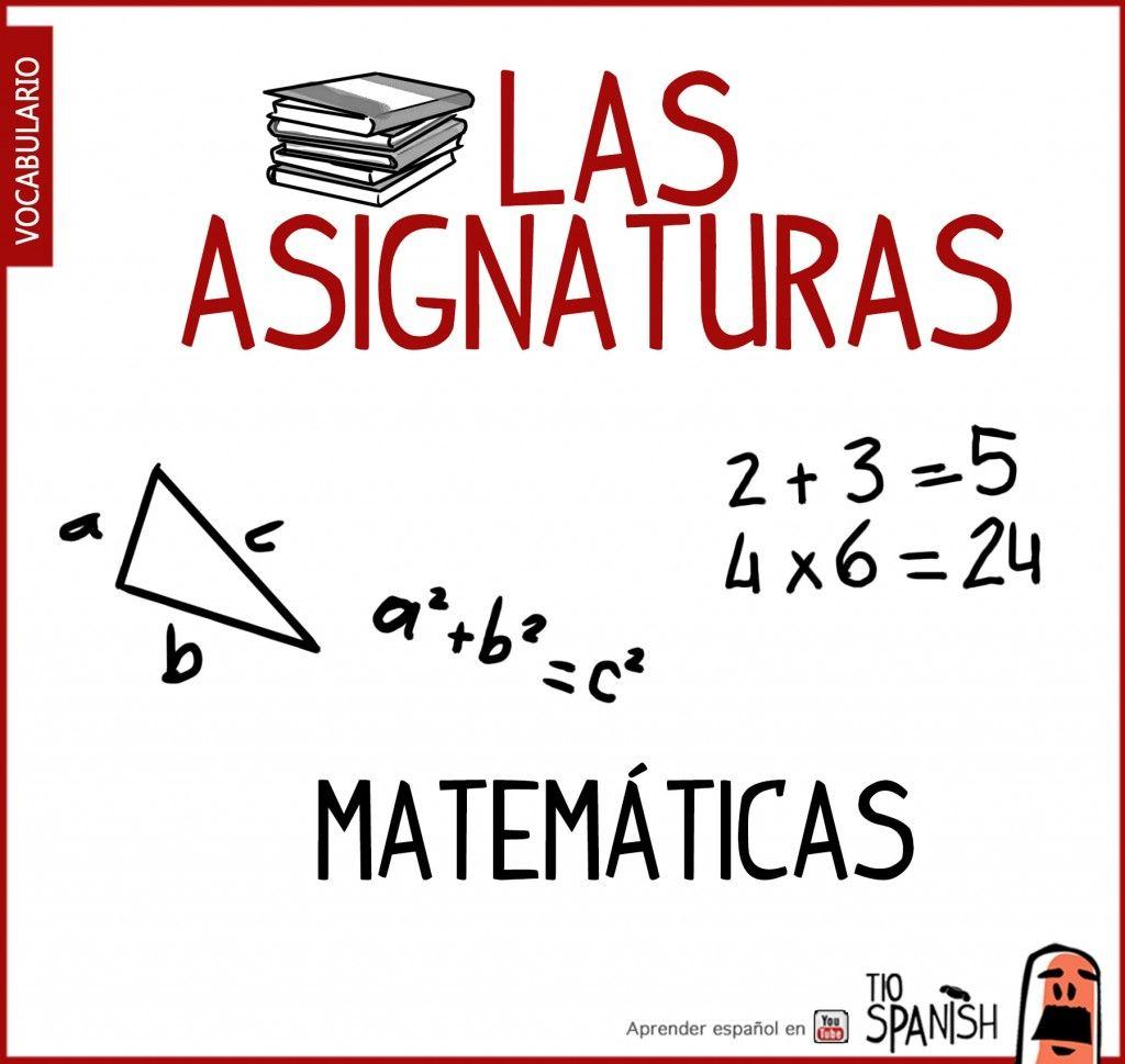 Matematicas Nombre De Las Asignaturas En Espanol School