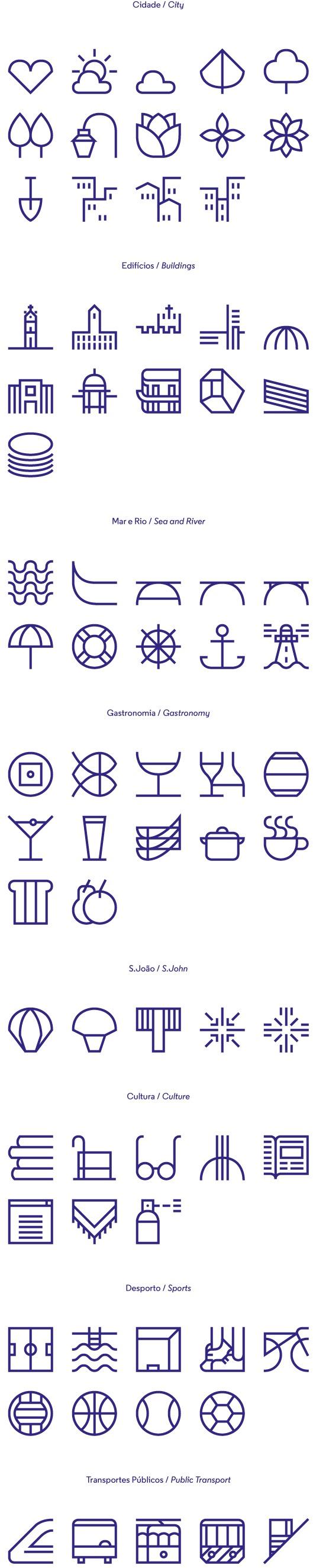 Icons / Symbols / New identity for the city of Porto on Behance